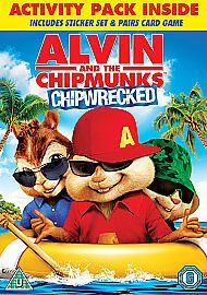 Alvin And The Chipmunks - Chipwrecked (DVD, 2012) USED