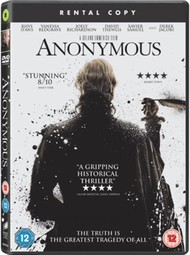 Anonymous DVD (2012) RENTAL COPY (USED)