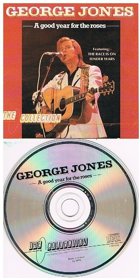 GEORGE JONES - A GOOD YEAR FOR THE ROSES (CD 1988) USED