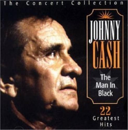JOHNNY CASH - THE MAN IN BLACK - THE  CONCERT COLLECTION ( CD 1996) USED