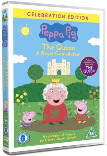 Peppa Pig: The Queen - A Royal Compilation DVD (2012) Phil Davies (NEW N SEALED)
