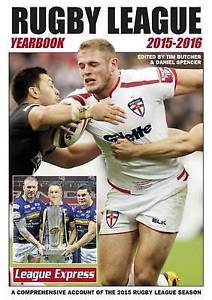Rugby League Yearbook 2015 - 2016: A Comprehensive Acc by  Tim Butcher (USED)